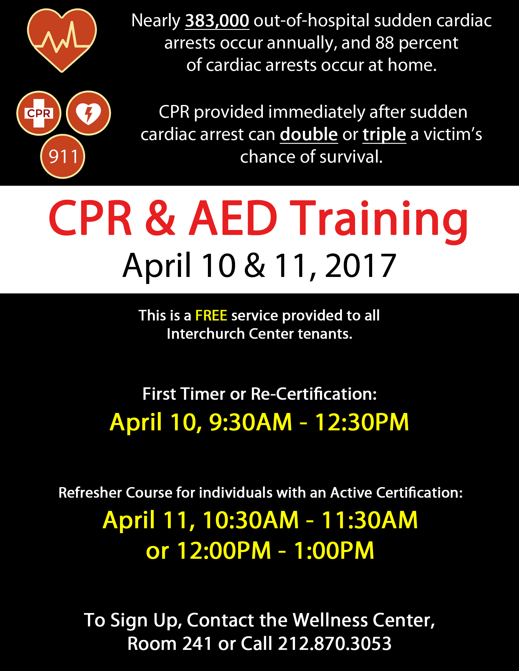 Cpr Aed April 2017 New Flyer Black 1 The Interchurch Center
