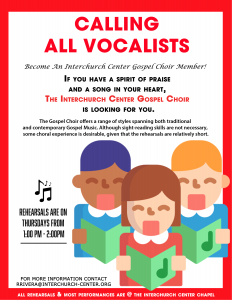TIC Gospel Choir Flyer Recruiting
