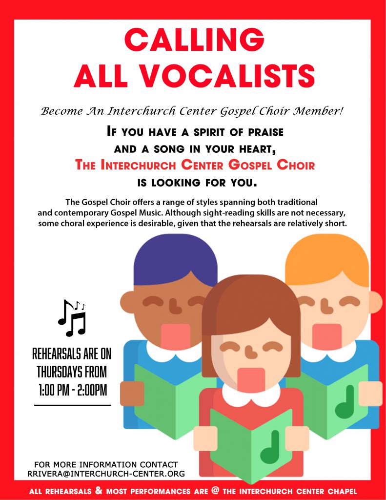 TIC Gospel Choir Flyer Recruiting
